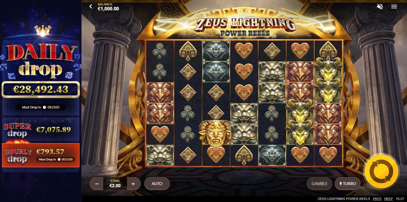 Zeus Lightning Power Reels Slot Machine
